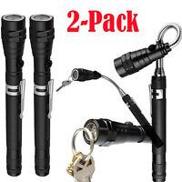 2-Pack: Extendable Telescoping Magnetic Pickup Tool w/Flex-Head LED Flashlight