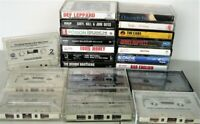 80s Rock LOT OF 21 Vintage Cassette Tapes - Doobies Fleetwood Cars Poison Collin