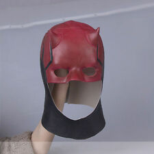 US SHIP Movie Daredevil Mask Adult Fantastic Cosplay Mask Latex Halloween Props