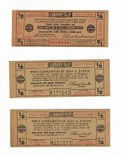 THREE 1/2 CENT LIBRARY-SLIPS MAGAZINE BOOK CO.20 MULE TEAM BORAX & 3 IN ONE OIL