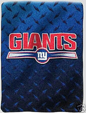 New York Giants blanket bedding 60x80 thick PLUSH we ship intl we wholesale NFL