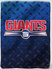 New York Giants blanket bedding 60x80 thick PLUSH we ship intl we wholesale NFL