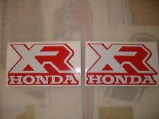 1986 Honda XR 100 Gas Tank Decals  AHRMA HONDA XR XL Decals