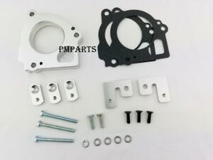 Silver Billet Throttle Body Spacer Fit 1999-2002 Jeep Grand Cherokee 4.7L