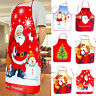 Christmas Apron Kitchen Cooking Bib Aprons Unisex Santa Claus Xmas Party Decor b