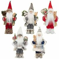 Standing 30cm Tall Woodland Santa Claus Christmas Decoration Tradition Xmas Deco