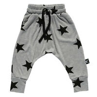 Kids Baby Boys Star Printed Jogger Pants Trousers Leggings Bottoms Suit Age 2-7T
