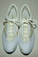 Nike FCS Womens White w Gold Trim Running Shoes 318682-111 Size 8.5