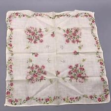 Vintage Womens Handkerchief Floral Design