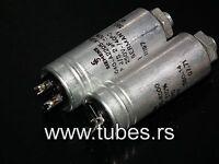 Two vintage Siemens PIO capacitors 2.0 uF / 250V Klangfilm tube audio