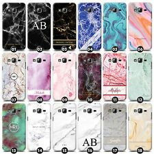 Personalized Marble Case/Cover for Samsung Galaxy Core/Grand Initial/Name/Custom
