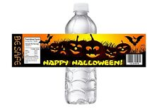 HALLOWEEN PARTY, BIRTHDAY OR  CLASS PARTY FAVORS WATER BOTTLE LABELS WRAPPERS #3
