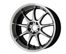 WORK EMOTION D9R 10.5J-19 +15 5x114.3 Silver set of 4 wheels from JAPAN