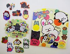 Japanese lazy animals SCENTED sticker flakes! Kawaii sleepy cats, pandas, bunny