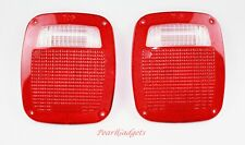 FITS JEEP WRANGLER 1987-2006 TAIL LIGHTS LENS REAR LAMP LENS TAILLIGHTS PAIR SET
