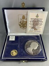 Bermuda 1977 Queen Silver Jubilee Gold & Silver 2pc Bu. Proof Set with Box