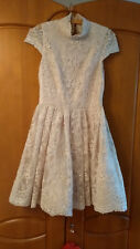 Braut- oder Abendkleid von alice+olivia mit Spitze, champagnerfarben, Gr. 36/S
