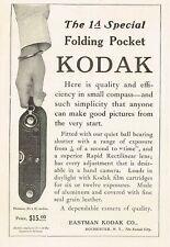 1910s Original Vintage 1a Special Pocket Kodak Camera Photo Print Ad