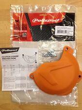 KTM  XCF  SXF  250  350  2013-2015 CLUTCH COVER PROTECTOR GUARD ORANGE