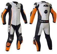 MEN'S KTM RIDER MOTORCYCLE RACING LEATHER SUIT WHITE,BLACK Riding racing suit