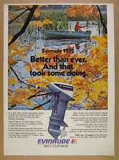 1974 Evinrude 15 Outboard Motor fisherman mirrocraft boat photo vintage print Ad