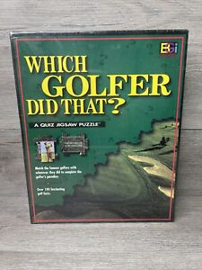 """Buffalo Games """"Which Golfer Did That"""" Quiz Puzzle 250 Pcs 117 Famous Golfers"""