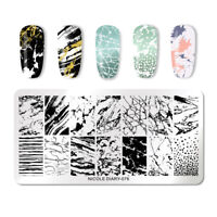 NICOLE DIARY Nail Stamping Plates Rectangle Nagel Schablone Stamp Stencil 076