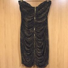 lipsy sparkly bandeau mini dress size 10