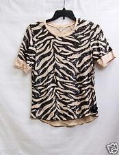 Rebecca Taylor Women's Tiger Sequin Top, L
