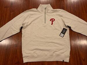 '47 Brand Mens Philadelphia Phillies 1/4 Zip Stateside Striker Jacket XXL 2XL