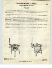 1921 PAPER AD 4 PG Klean Kwick Vacuum Wooden Washing Machine Hand Power Electric