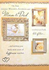 Mum and Dad 50th Golden Wedding Anniversary Card ~ Beautiful Verse