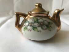 Antique Miniature Hand Painted Tea Pot