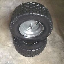 "16x6.50-8 2 Ply Tube Type 3/4"" ID 3"" Through Hub Keyed Mower Wheel Tire (PAIR)"