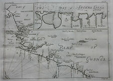 Original antique map, WEST AFRICA, SIERRA LEONE, LIBERIA, GUINEA, J. Kip, 1744