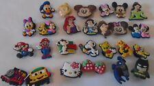 Jibbitz Crocs 27 Charms Disney Mickey Mouse Princess Snoopy Mario Batman Pooh