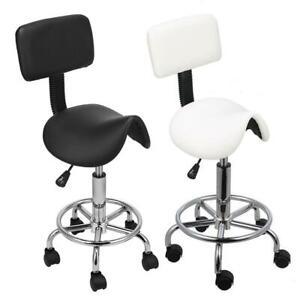 Saddle Salon Stool Spa Tattoo Beauty Manicure Chair Equipment Backrest Gas Lift
