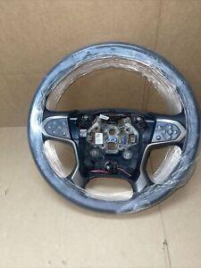 2015-2018 GMC Sierra Silverado 1500 HD Steering Wheel Heated Black OEM