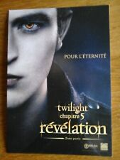 carte postale promo twilight .be EDWARD chapitre 5 2eme partie postcard