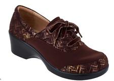 Alegria Dream Fit Leather Lace-up Shoes - Madi Interlockin' Choco EU42 US 11.5