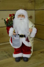 30cm Standing Indoor Santa Claus / Father Christmas with List Plush Decoration