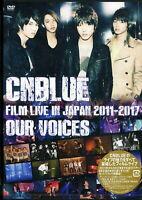 CNBLUE-CNBLUE:FILM LIVE IN JAPAN 2011-2017 OUR VOICES-JAPAN 2 DVD K81 zd