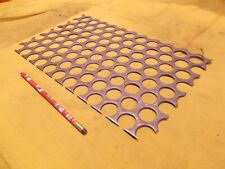 "11ga PERFORATED STEEL SHEET welding plate flat bar grate .120"" x 8 7/8"" x 14 1/2"