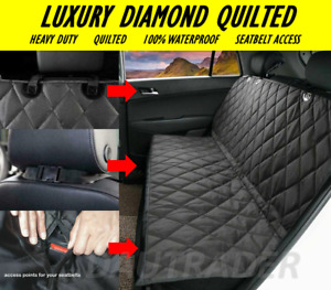 Heavy Duty Quilted Back Rear Car Van Seat Bench Pet Dog Cover Protector Liner