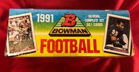 1991 BOWMAN FOOTBALL FACTORY SEALED SET (561) Emmitt, Bo, Sanders, Marino Rice