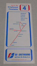 1984 Greyhound bus time table Aberdeen Hibbing Duluth Twin Cities Omaha Superior