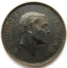 1941-H C.V.Brooke Rajah Sarawak 1 One Cent Coin - Rare