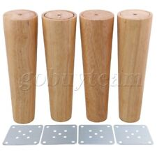 4 pcs 20cm Height Wood Tapered Furniture Feet Sofa Tea Table Legs