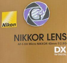 Objektiv Nikon AF-S  DX Micro Nikkor 40mm f/2.8G - 12 Monate Gewährleistung