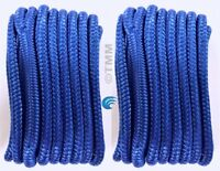"2 Blue Double Braided 1//2/"" x 20/' HQ Boat Marine DOCK LINES Mooring Rope Cord"